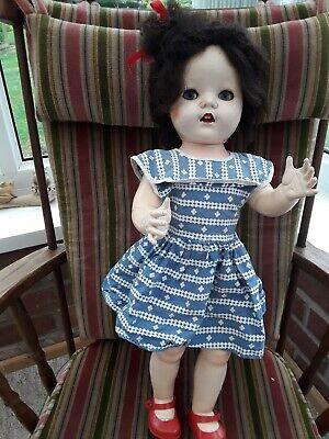"Vintage 1950S Pedigree Hard Plastic Walking Doll Flirty Eyes 22"""