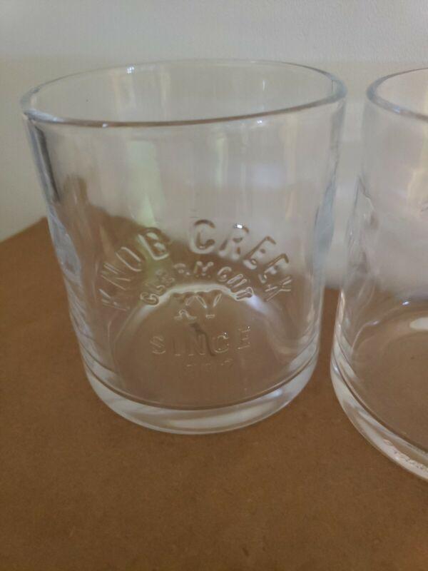 Knob Creek Bourbon Whiskey Tumbler Glass Set of 2. NEW