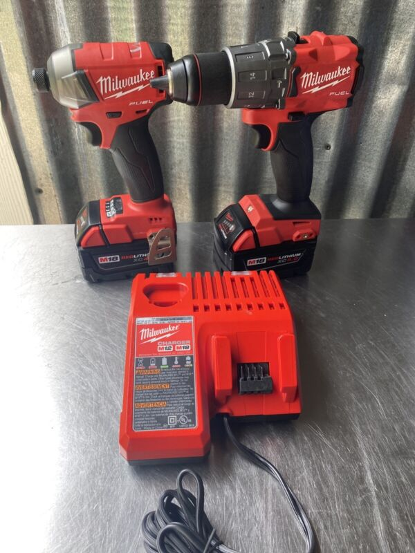 "Milwaukee Fuel M18 1/4"" Impact And 1/2"" Hammer Drill Driver Set"