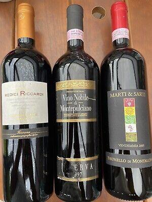 Rarität! - 1997 2005 2013 Top Rotwein Sammlung Italienische Trauben