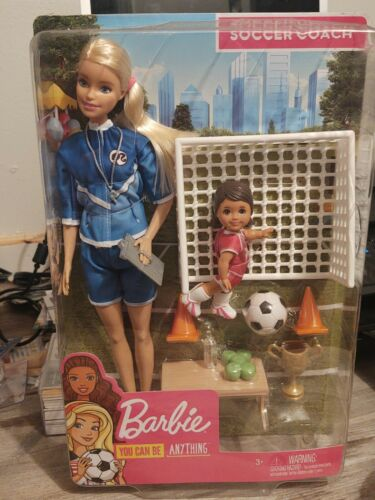Barbie Careers You Can Be Anything Soccer Coach Play Set NIB Great For A Gift - $17.99