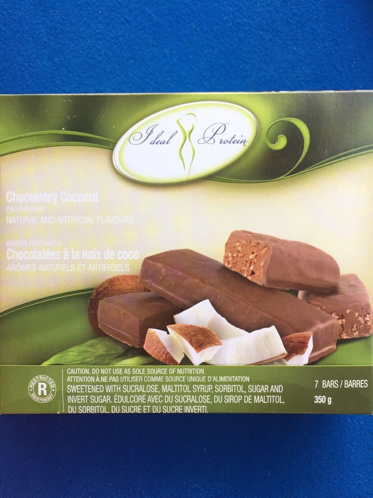 Ideal Protein Chocolatey Coconut Protein Bars - 7 Bars - EXP 12/31/21  FREE SHIP 2