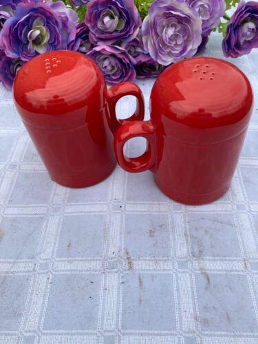 FIESTA NEW SCARLET red RANGETOP SALT & PEPPER SET Fiestaware Range Top
