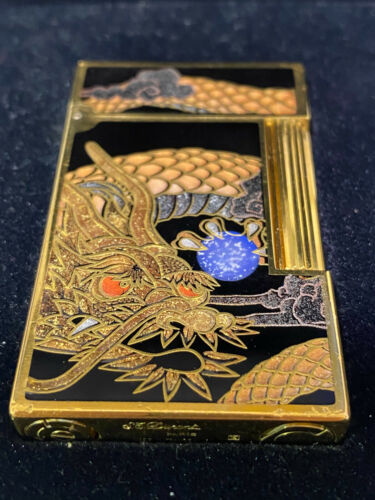 Pre Order Dupont Lighter Genuine Lacquer Makie Dragon Single-sided construction