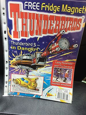 Thunderbirds Redan Comic Issues 18 with free TB4 fridge magnet Gerry Anderson