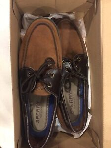 Sperry Topsider deck shoes Size 10 Leeward brown colour For Sale