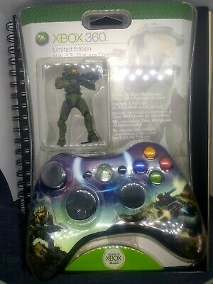 XBox 360 Limited Edition Halo Controller With Todd Mcfarlane Figurine Sealed