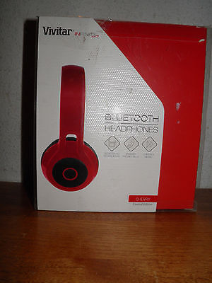 Cherry Headphone - Vivitar Infinite Bluetooth Headphones Cherry RED Limited Edition Buy it now save