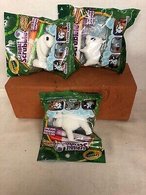 Lot Of 3 Scribble Scrubbie Safari Pets Color & Clean  Kids Activity Crafts