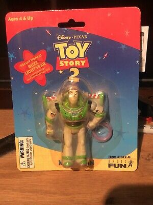 Disney Pixar Toy Story 2 Buzz Lightyear Keychain Vintage 1999  NEW SEALED