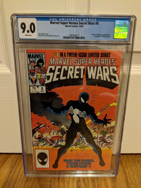 Marvel Super-Heroes Secret Wars 8 CGC 9.0 Origin Black Costume Venom