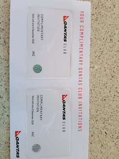 QANTAS lounge passes