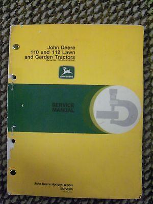 John Deere Square Fender Service Manual 110-112 100001- 250000