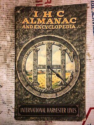 1913 International Harvester Almanac Encyclopedia Hit Miss Stationary Engine
