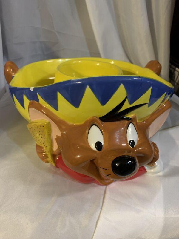 Speedy Gonzales Gonzeles Salsa Chip Bowl Exclusive Warner Brothers Bros 1999