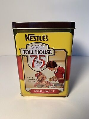 2014 Nestle's Toll House 75th Anniversary Empty Semi-Sweet Morsels Tin VGC