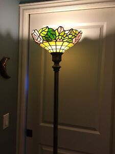 Tiffany stain glass floor lamp