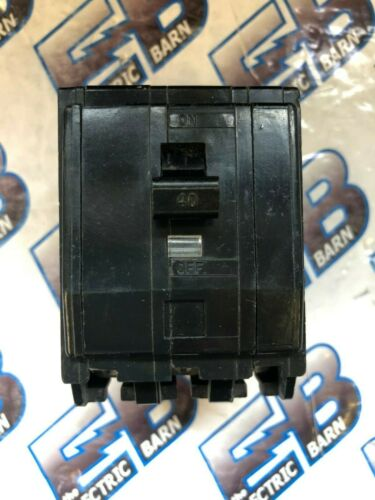 Square D QOB340, 40 AMP 3 POLE 240 VOLT Twisted Foot Circuit Breaker- WARRANTY