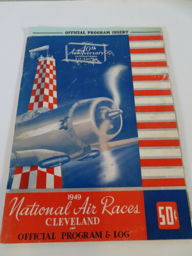 RARE 1949 National Air Races Cleveland Ohio Program Show Log