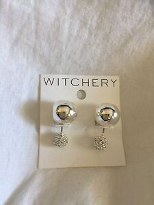 Witchery Crystal Double Sphere Earrings Butler Wanneroo Area Preview