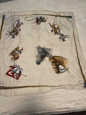 Vintage Scarf Styles -1920s to 1960s Vintage Equestrian Silk Scarf $16.95 AT vintagedancer.com