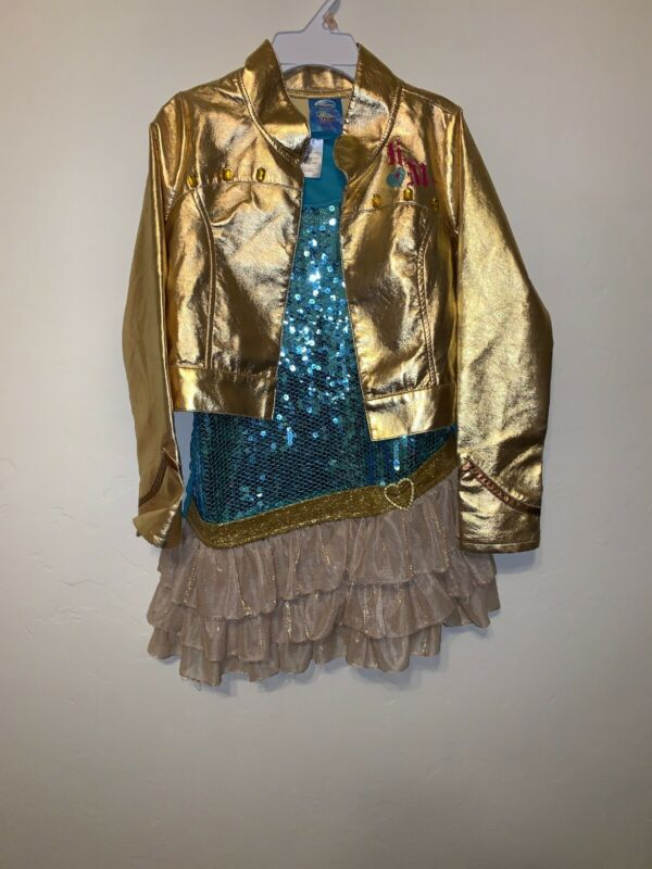 Disney Store Exclusive HANNA MONTANA Dress And  Faux Leather Jacket Costume