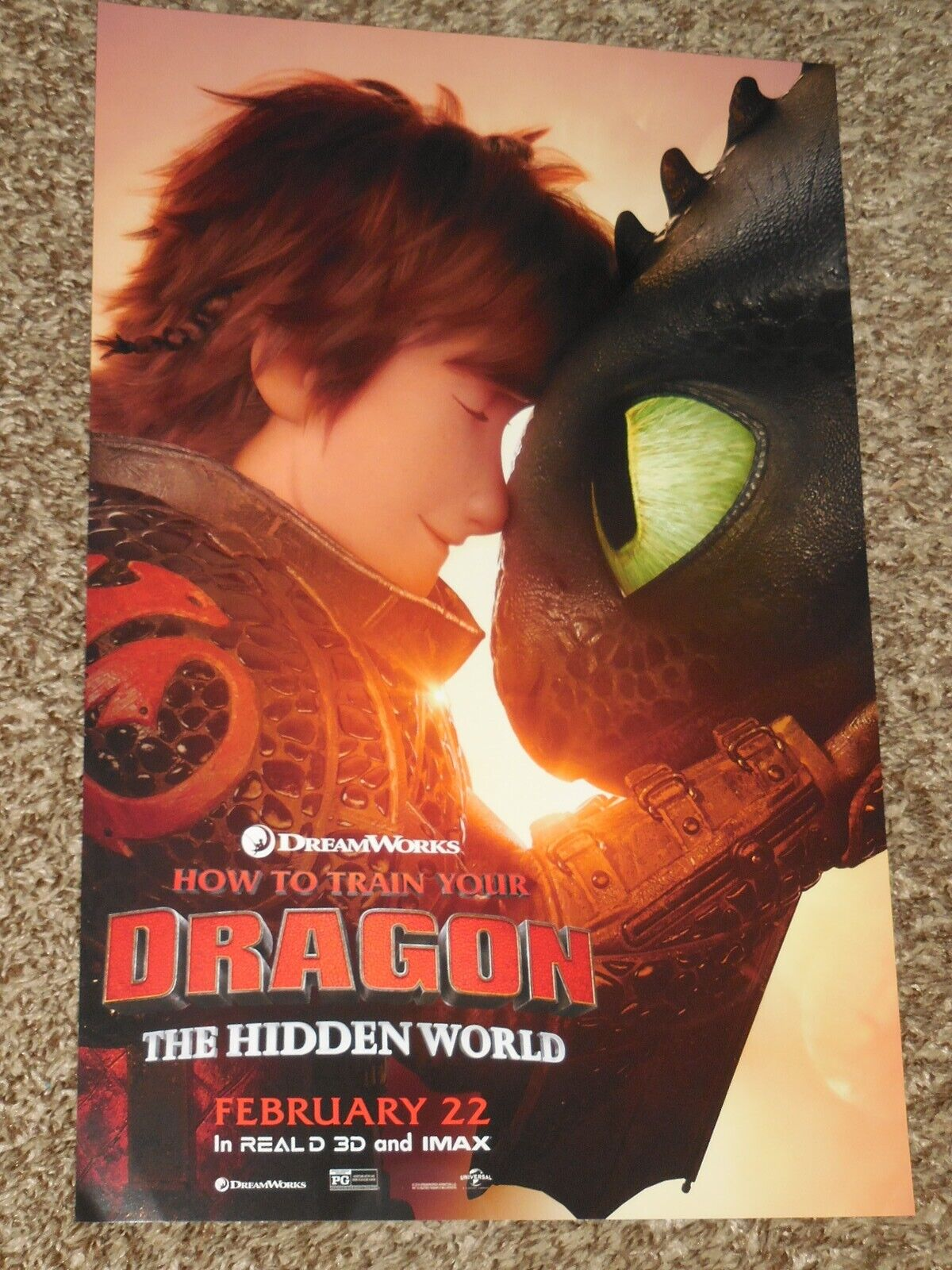 How To Train Your Dragon The Hidden World 11x17 D S Original Promo Movie Poster Ebay