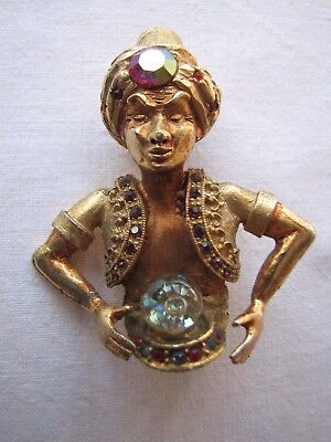 Vintage Gypsy Style Pin in Antique Bronze Accessories Accessory Fortune Teller Brooch