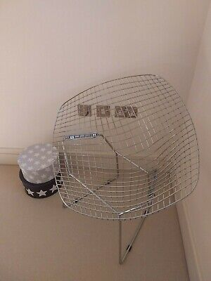Wire diamond shape chair Bertoia Knoll armchair designer amaizing