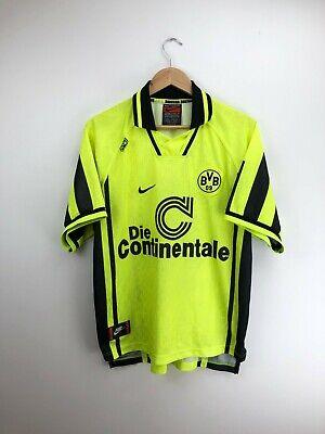 Borussia Dortmund BVB Football Shirt Jersey 1996/1997 Home Nike Adults XL image