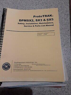 Southwestern Prototrak Dpmsx2 Sx3 Sx5 Parts Manual