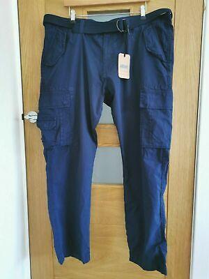 Mens Navy Blue Cargo Trousers By Jacamo BNWT - 44 Regular