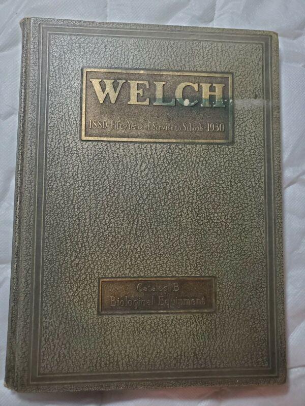 Welch Scientific Apparatus 1880-1930 Catalog W.M. Welch Scientific Company Rare