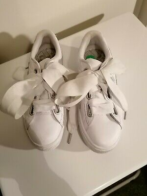 Puma Basket Trainers White Size UK4