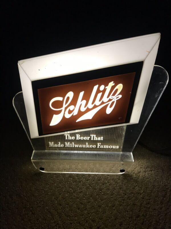 VINTAGE 1950's Schlitz lighted cash register topper beer sign bar Brewery light