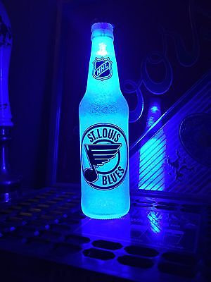 NHL St. Louis Blues Hockey 12 oz Beer Bottle Light LED Bar Man Cave