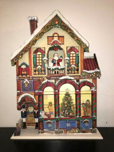 Costco Christmas Advent Calendar 24 Doors Wooden Victorian House #663167