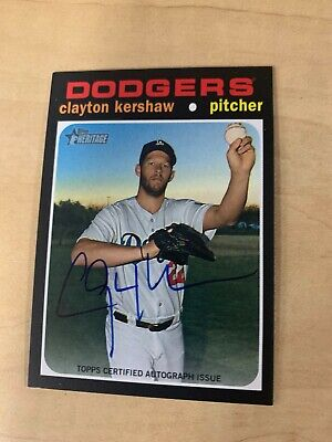 Clayton Kershaw 2020 Topps Heritage High Number Real One Autograph #ROA-CK