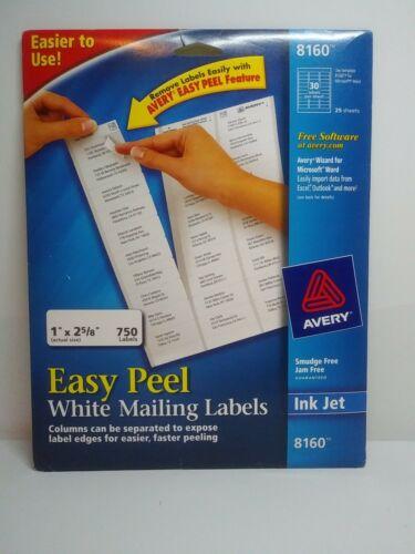 """Avery Easy Peel Address Labels, Inkjet Printers, White, 1"""" x"""