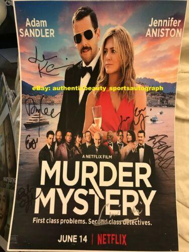 MURDER MYSTERY ADAM SANDLER JENNIFER ANISTON LUKE EVANS SIGNED 12x18 REPRINT RP
