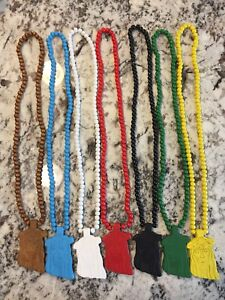 Jesus Pieces Wooden Bead Necklaces $5 each