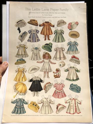 July 1909 Lettie Lane Magazine Paper Doll Page Lettie Lane