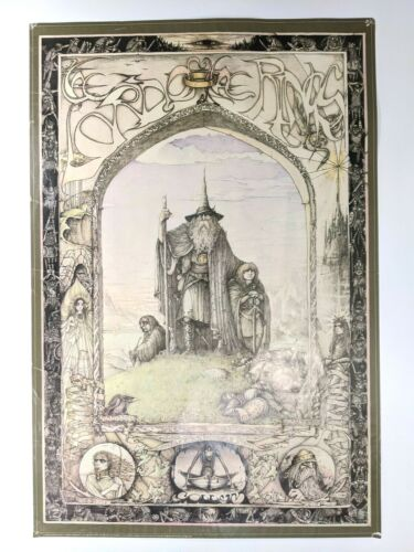 Lord Of The Rings Athena International 1976 JRR Tolkien Jimmy Cauty Poster Print