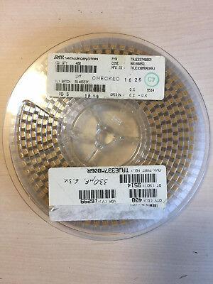 400pcs Avx 330uf Tantalum Smt Capacitor 6.3v 20 2917