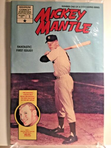 1991 MICKEY MANTLE COMIC 1ST ISSUE WITH BASEBALL POSTCARDS FACTORY WRAPPING