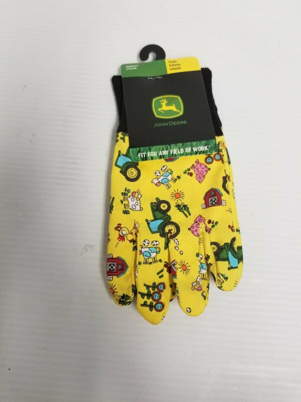 LP42430 John Deere Licensed Kids Work Gloves