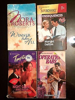 Lot of 4 Romance Novels Passion Suspense Drama Intrigue Action Adventure Books