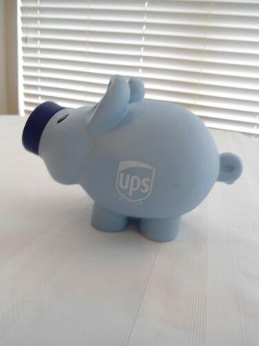 """UPS Blue Rubber Piggy Bank 8 1/2"""""""