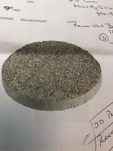 Looking for 4 or 5 of these Round Exposed Concrete Step Stones