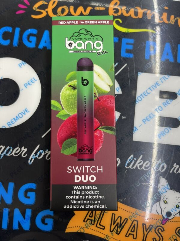 bang Disposable XXL Switch Duo 2500 Puffs Red Apple & Green Apple Salt-Nico 6%